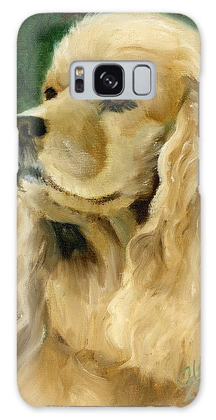 Cocker Spaniel Dog Galaxy Case by Alice Leggett