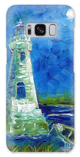 Cockspur Lighthouse Mini #7 Galaxy Case by Doris Blessington