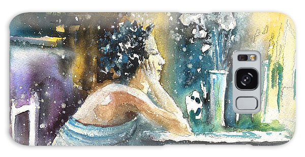 Russian Impressionism Galaxy Case - Coco Chanel Dreaming Of Igor Stravinsky by Miki De Goodaboom