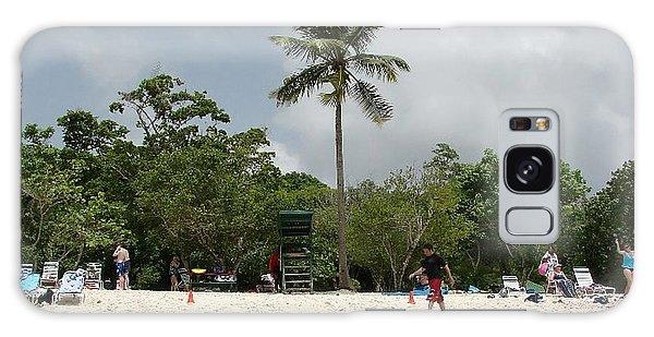 Coconut Tree At The Beach Galaxy Case