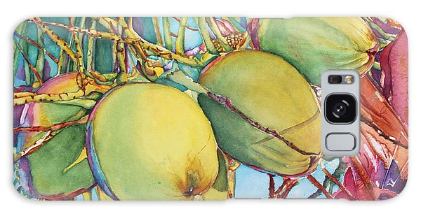 Coconuts At Sunset Galaxy Case