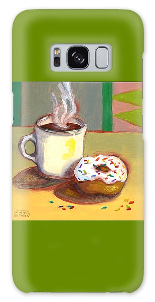 Coffee And Donut Galaxy Case by Susan Thomas