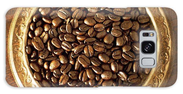 Coffee Beans On Antique Silver Platter Galaxy Case