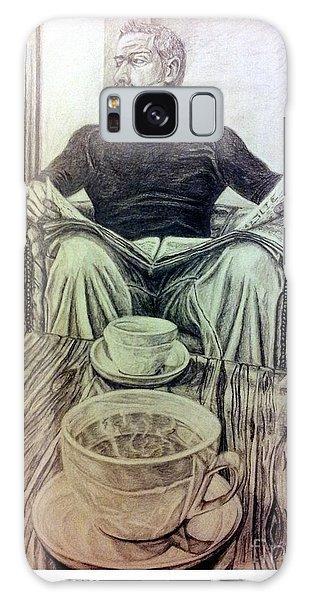Coffee Break Galaxy Case by R Muirhead Art