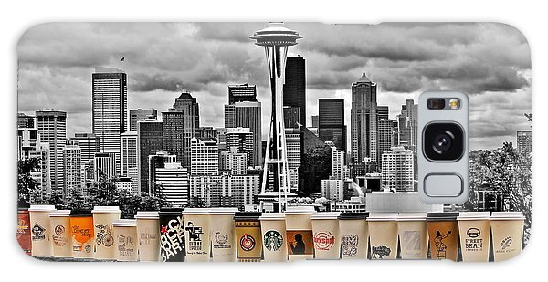 Seattle Skyline Galaxy S8 Case - Coffee Capital by Benjamin Yeager