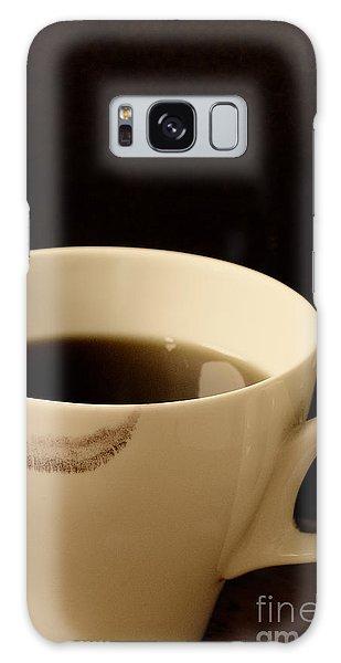 Coffee Cup With Lipstick Mark Galaxy Case by Birgit Tyrrell