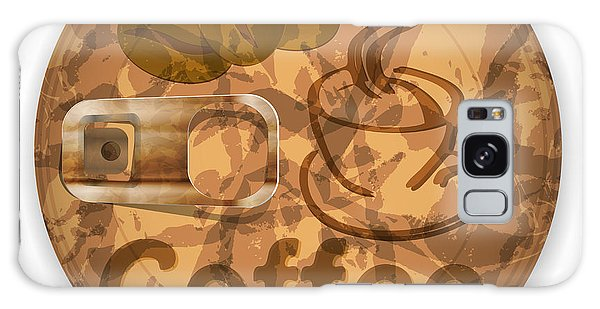 Sixties Galaxy Case - Coffee Lid Isolated On White Background by Berkut