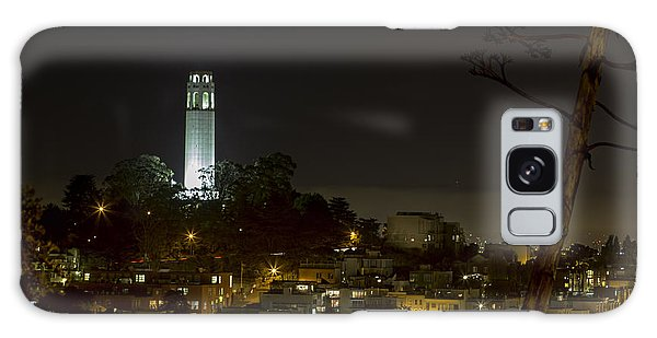 Coit Tower By Night Galaxy Case