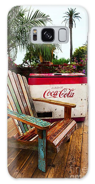 Vintage Coke Machine With Adirondack Chair Galaxy Case