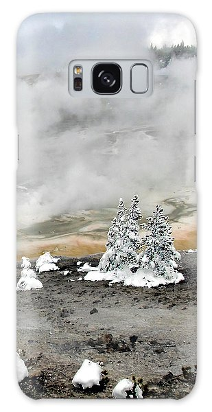 Cold And Hot Trees Galaxy Case