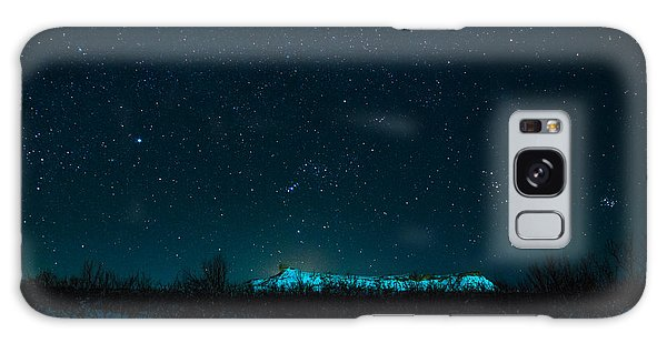 Cold Night On The Saddle Horn Galaxy Case