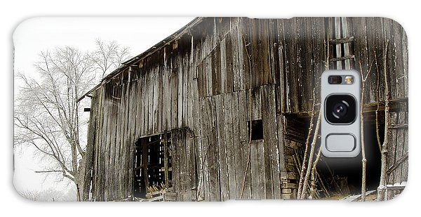 Cold Winter At The Barn  Galaxy Case by Wilma  Birdwell