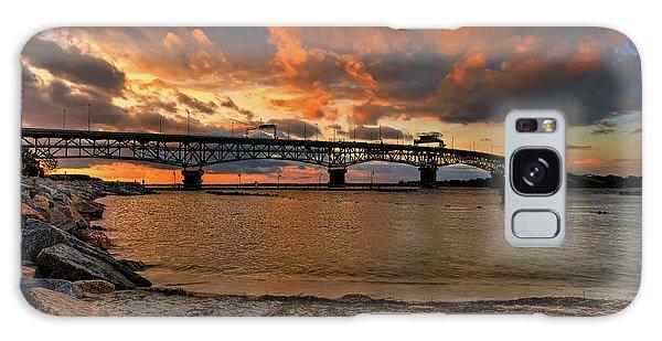 Coleman Bridge At Sunset Galaxy Case by Jerry Gammon