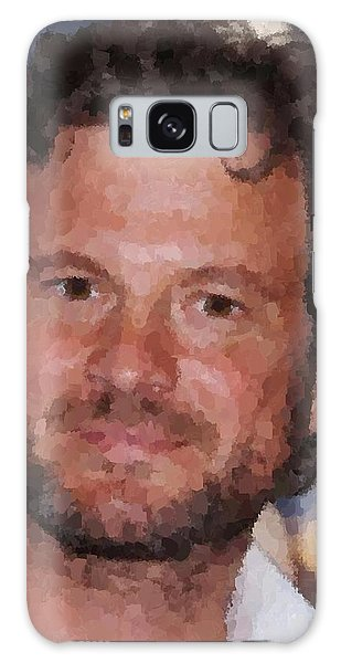 Colin Firth Portrait Galaxy Case