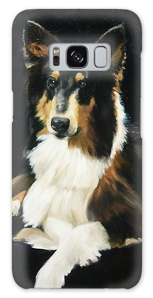 Collie Galaxy Case by Alice Leggett