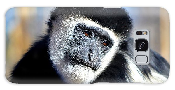 Colobus Contemplation Galaxy Case by Deena Stoddard