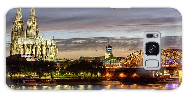 Cologne Cathedral With Rhine Riverside Galaxy Case