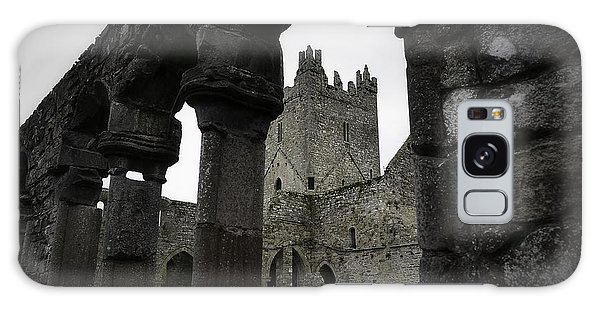 Colonnade And Tower Of Jerpoint Abbey Galaxy Case by Nadalyn Larsen