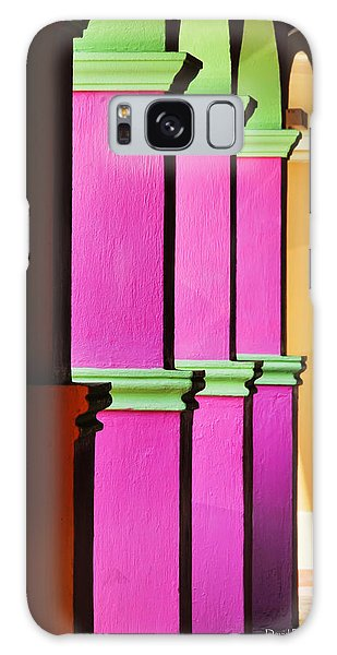 Colorful Colonnade - Lake Chapala - Mexico - Travel Photography By David Perry Lawrence Galaxy Case by David Perry Lawrence