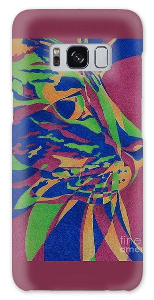 Color Cat I Galaxy Case by Pamela Clements