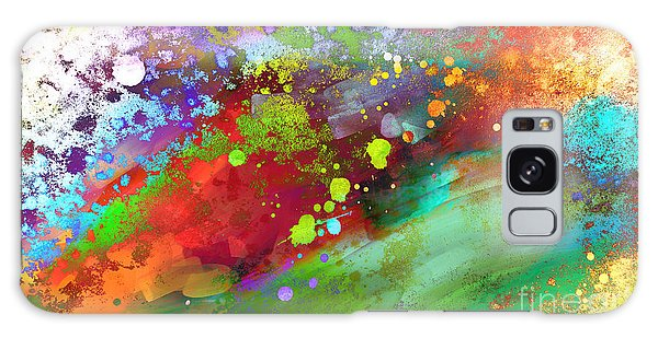 Color Explosion Abstract Art Galaxy Case