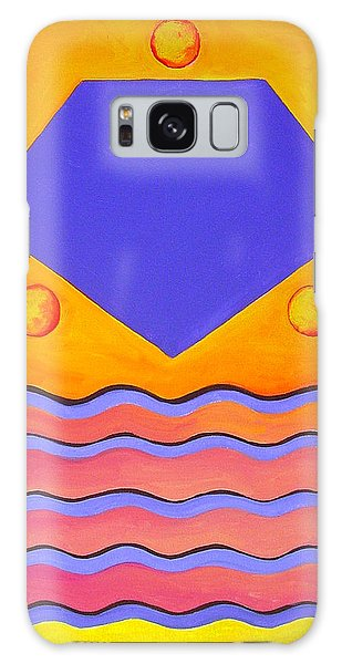 Color Geometry - Pentagon Galaxy Case by Carolyn Goodridge