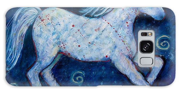 Color Horse Blue Go Running Galaxy Case