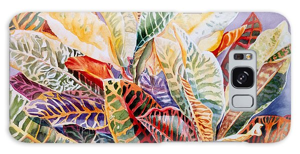 Color Patterns - Crotons Galaxy Case by Roxanne Tobaison