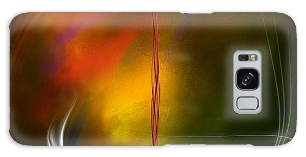 Color Symphony With Red Flow 1 Galaxy Case by Johnny Hildingsson