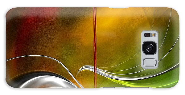 Color Symphony With Red Flow 2 Galaxy Case by Johnny Hildingsson