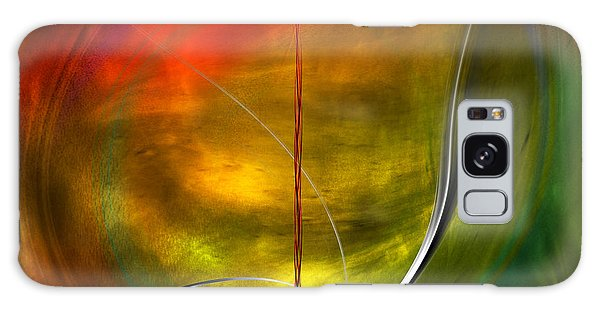 Color Symphony With Red Flow 4 Galaxy Case by Johnny Hildingsson