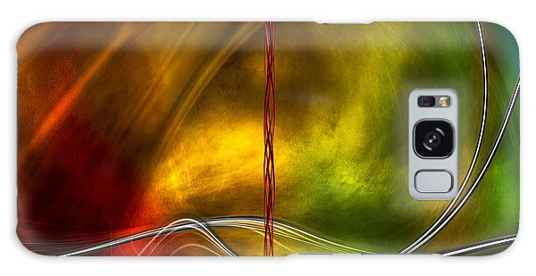 Color Symphony With Red Flow 5 Galaxy Case by Johnny Hildingsson