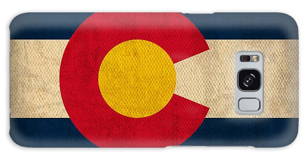 Patriotic Galaxy Case - Colorado State Flag Art On Worn Canvas by Design Turnpike
