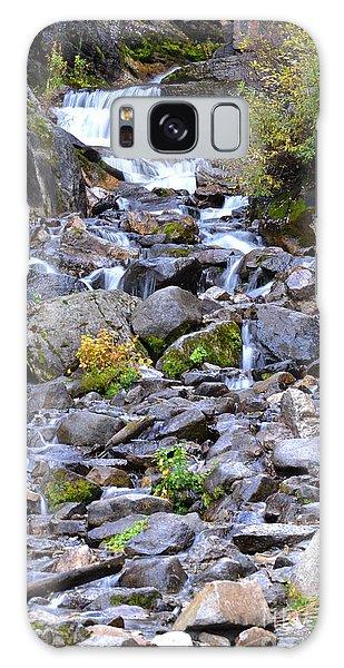 Colorado Waterfall Mountain Stream Galaxy Case by Andrea Hazel Ihlefeld