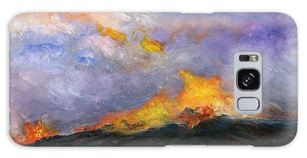 Colorado Wild Fire Galaxy Case by Lenora  De Lude