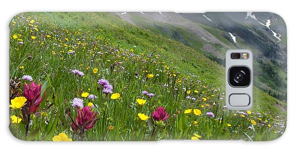 Colorado Wildflowers And Mountains Galaxy Case