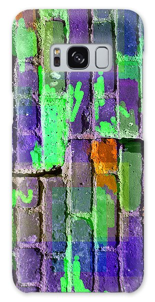 Colored Brick And Mortar 4 Galaxy Case