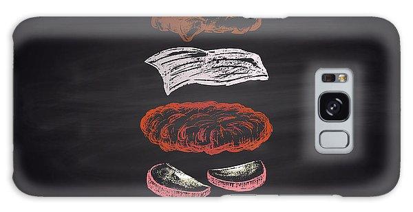 Board Galaxy Case - Colored Illustration Of Chalk Drawn by Anat om