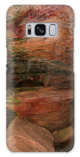 Colored Rock Layers Galaxy Case