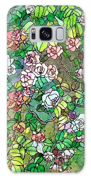 Colored Rose Garden Galaxy Case