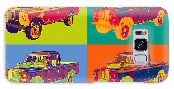 Colorful 1971 Land Rover Pick Up Truck Pop Art Galaxy Case by Keith Webber Jr