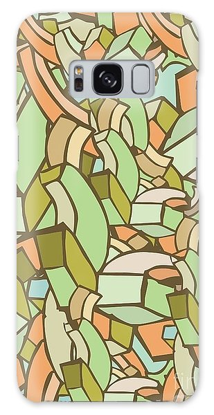 Round Galaxy Case - Colorful Abstract Background by Gudron