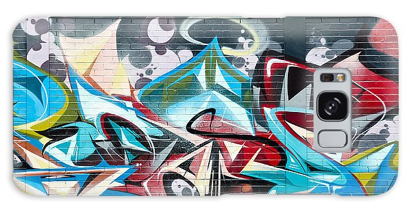 Colorful Abstract Graffiti Art On The Brick Wall Galaxy Case