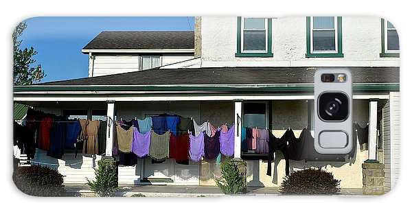 Colorful Amish Laundry On Porch Galaxy Case