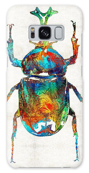 Egypt Galaxy Case - Colorful Beetle Art - Scarab Beauty - By Sharon Cummings by Sharon Cummings