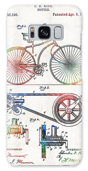 Colorful Bike Art - Vintage Patent - By Sharon Cummings Galaxy Case