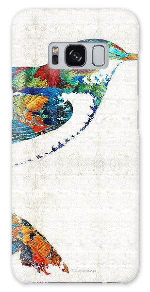 Finch Galaxy S8 Case - Colorful Bird Art - Sweet Song - By Sharon Cummings by Sharon Cummings