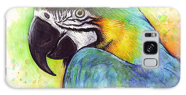 Bird Galaxy Case - Macaw Watercolor by Olga Shvartsur