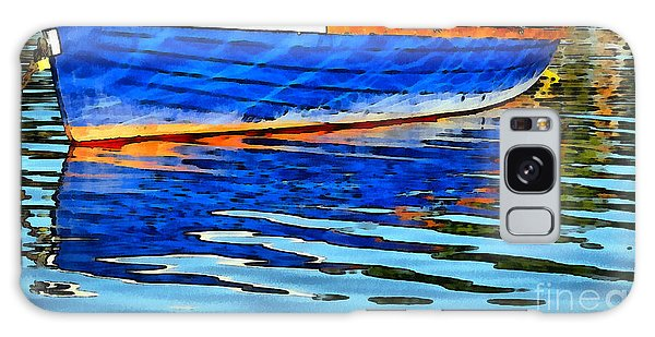 Colorful Boat On The Water Galaxy Case by Odon Czintos