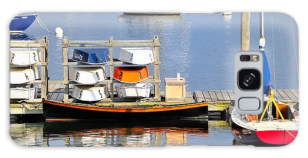 Colorful Boats Rockland Maine Galaxy Case